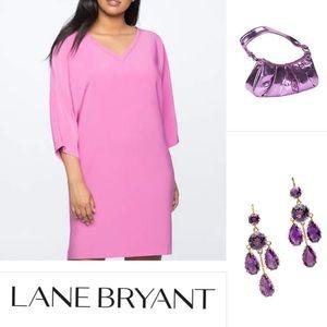 New Purple Lilac Lane Bryant Spring Dress 1X 2X 3X